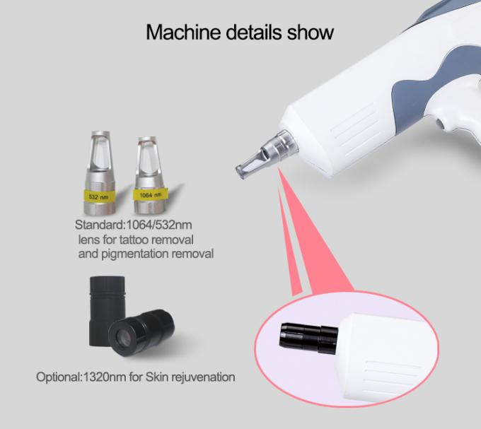Pigment Removal Q-Switched ND YAG Laser Tattoo Removal ¢7 And ¢8  Yag Bars
