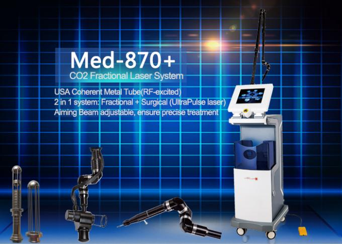 Medical CE Approval Fractional Co2 Laser Machine 635nm for Burnt / Surgery Scars