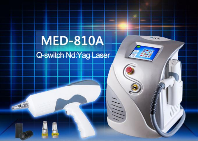 Portable 1600mj Q-switch Nd YAG Laser for Tattoo Removal / Birth Mark Removal