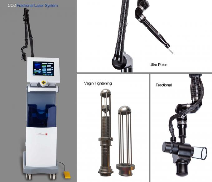 Professional CO2 Fractional Laser Machine Aiming Beam Adjustable Three Model