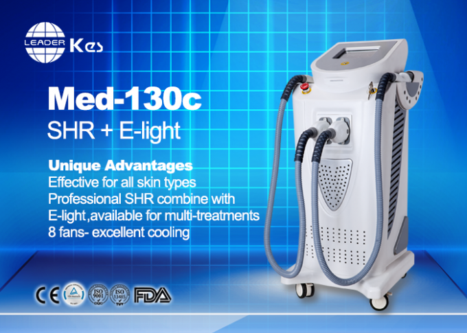 Vertical Beauty Salon IPL Hair Removal Machines , E-Light Beauty Machine MED-130C