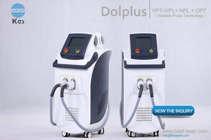 Safe And Effective Vertical Ipl Laser Hair Removal / Wrinkle Removal / Acne Removal Machine