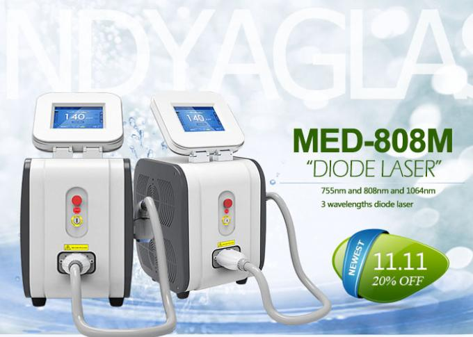 808 nm Diode Laser hair Removal Machine With 8.4 Inch Touch Screen