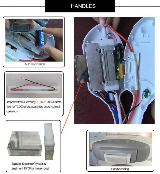 Painless Portable IPL SHR Hair Removal Machine For Permanent Armpit Hair Removal