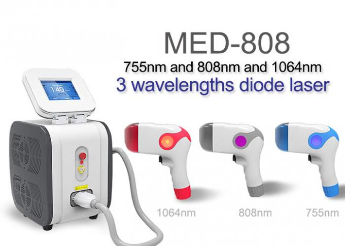 3 Wavelength Professional Laser Hair Removal Equipment For Underarm / Bikini Area