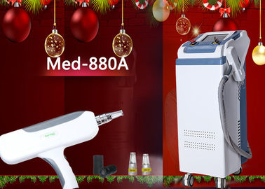 Vertical 1064nm / 532nm Nd Yag Laser Tattoo Removal Machine Skin Treatment