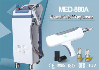 China Medical Tattoo Removal Q Switch ND Yag Laser Machine 500W 2000 MJ 1064 nm / 532 nm supplier