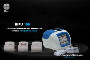 Portable Ultrasound Facelift Machine For Wrinkle Removal / Hifu Face Lift Skin Rejuvenation