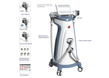China 2 Handpieces SHR Hair Removal RF Skin Rejuvenation Equipment ICE Thermage supplier