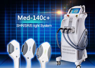 China Permanent IPL+SHR+E- light Hair Removal Machine with 3 Handles / 650-950nm factory