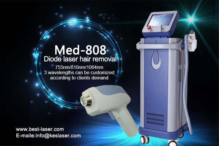 Home Permanent Herbal 808nm Diode Laser Hair Removal Machine Pain Free 600w