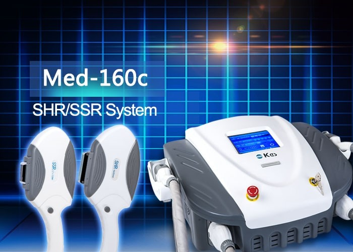 Med - 160c Hair Removal SHR / SSR Skin Tightening Machine For Salon