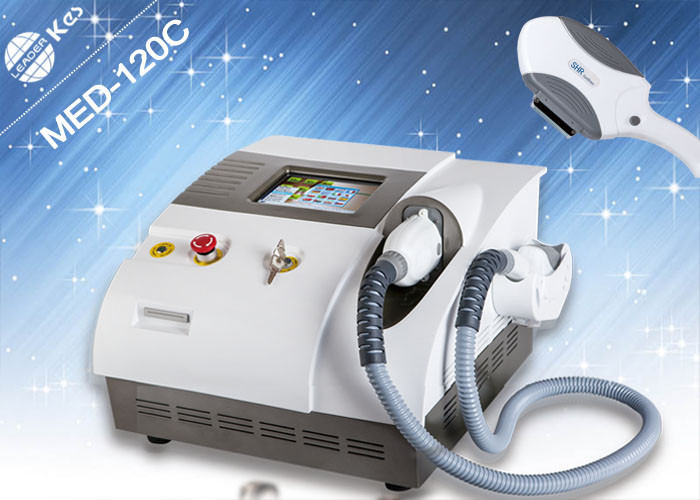 2 Handpieces IPL Laser Equipment , Flexble Screen Hair Removal SHR IPL Machine