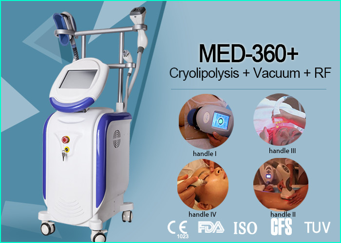 Powerful Cryolipolysis Vacuum RF Body Slimming Equipment For Face Lifting 660W