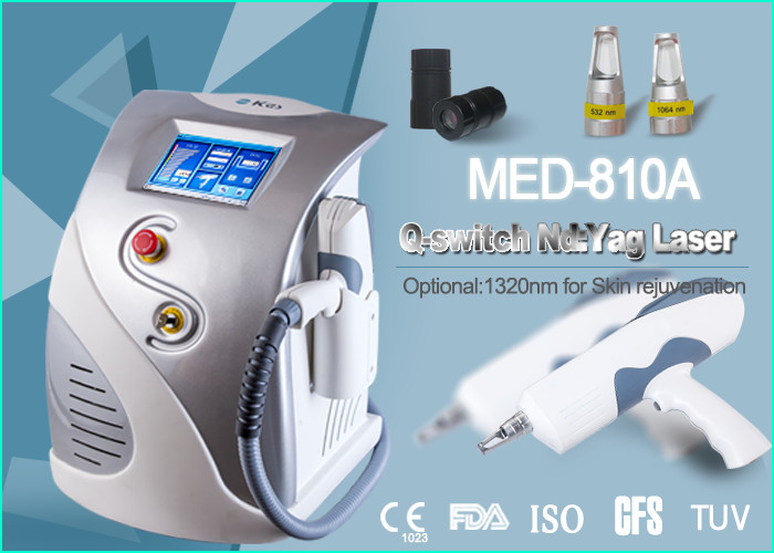 1600mJ ND YAG Laser Machine For Tattoo Removal / Pigment Reduction / Spot Removal