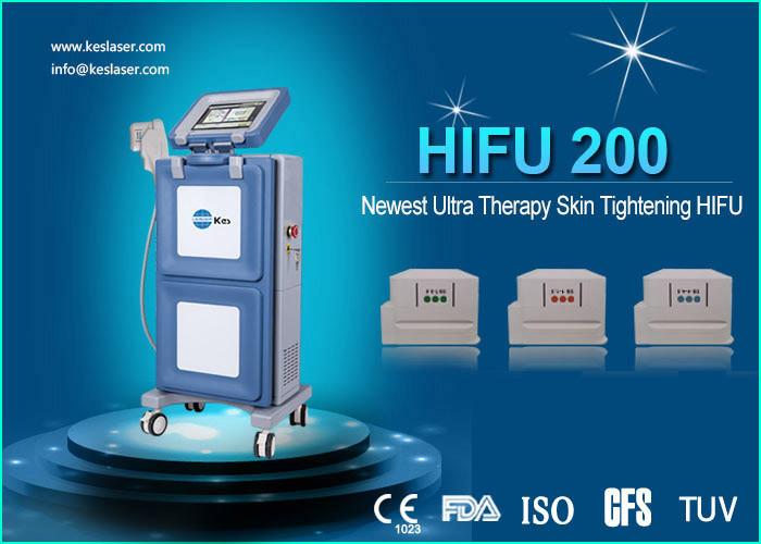 Three Cartridges Face Lifting High Intensity Focused Ultrasound Machine / Hifu System
