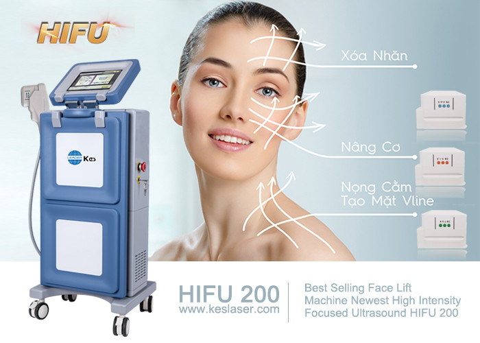 Hifu High Intensity Focused Ultrasound Hifu Anti Puffiness Skin Tightening Machine