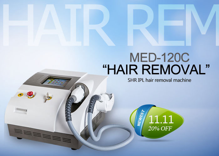 Beauty Salon IPL SHR Hair Removal Machine For Full Body / Underarms / Legs