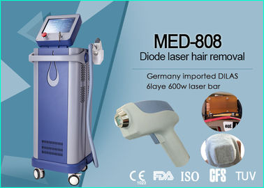 High Performance 808nm Diode Laser Chest / Back / Leg Hair Removal Machine 120J/Cm²
