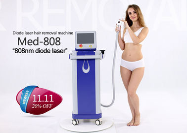 China 808nm Permanent Hair Removal Laser Machine , Unwanted Hair Removal Machine factory